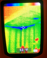 infrared showing temperature variations
