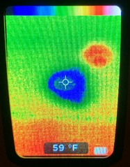 Infrared showing light whole cold spot